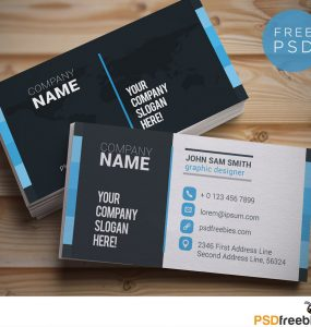 Creative Designer Business Card Template Free PSD