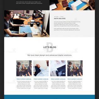 Creative Digital Agencies Website Template Free PSD