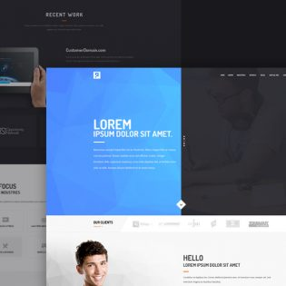 Creative Digital Agency Free Website Template PSD