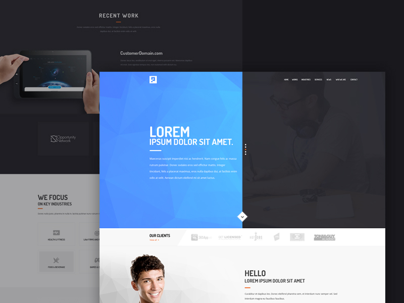 High Quality 50+ Free Corporate And Business Web Templates PSD ...