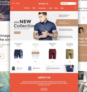 Creative Fashion Ecommerce Website Template Free PSD