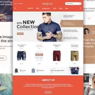 Creative Fashion Ecommerce Website Template Free PSD