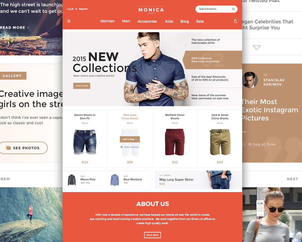 Creative Fashion Ecommerce Website Template Free PSD Download - Buy ecommerce website templates