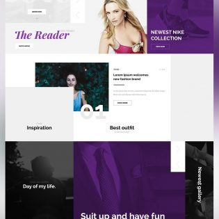 Creative Fashion Magazine Blog Website Template Free PSD