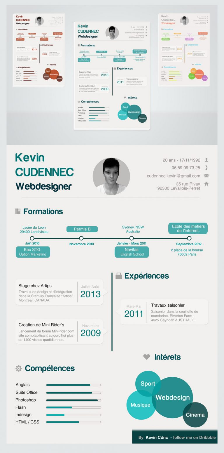infographic resume template free - creative infographic style free resume psd for designers