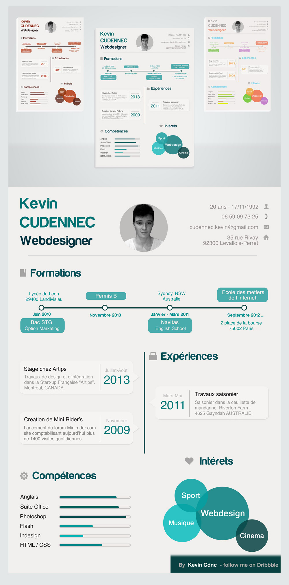 Creative Infographic Style Free Resume PSD for Designers Download ...