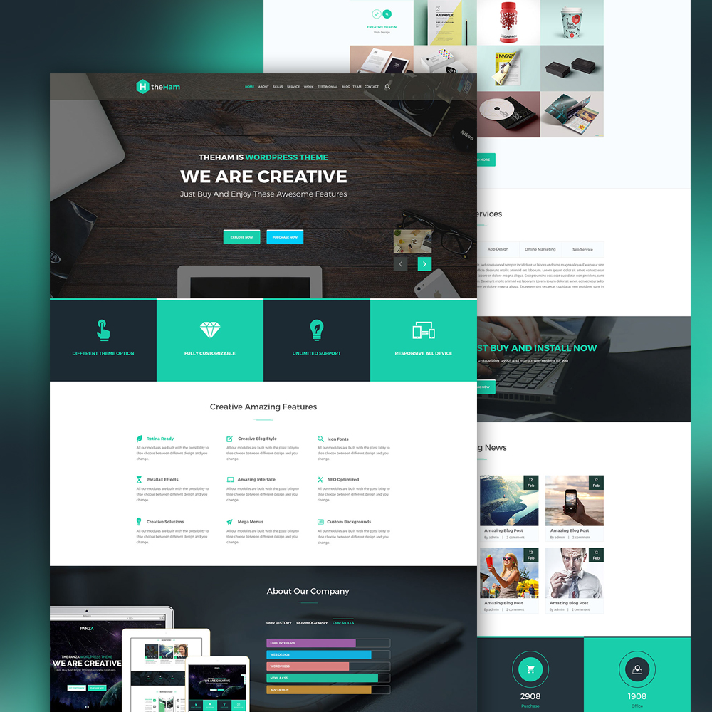 Creative landing page template free psd download for Website layout design software free download