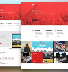 Creative Personal Website Template Free PSD