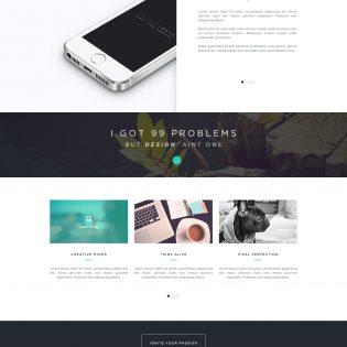 Creative Portfolio Template Free PSD