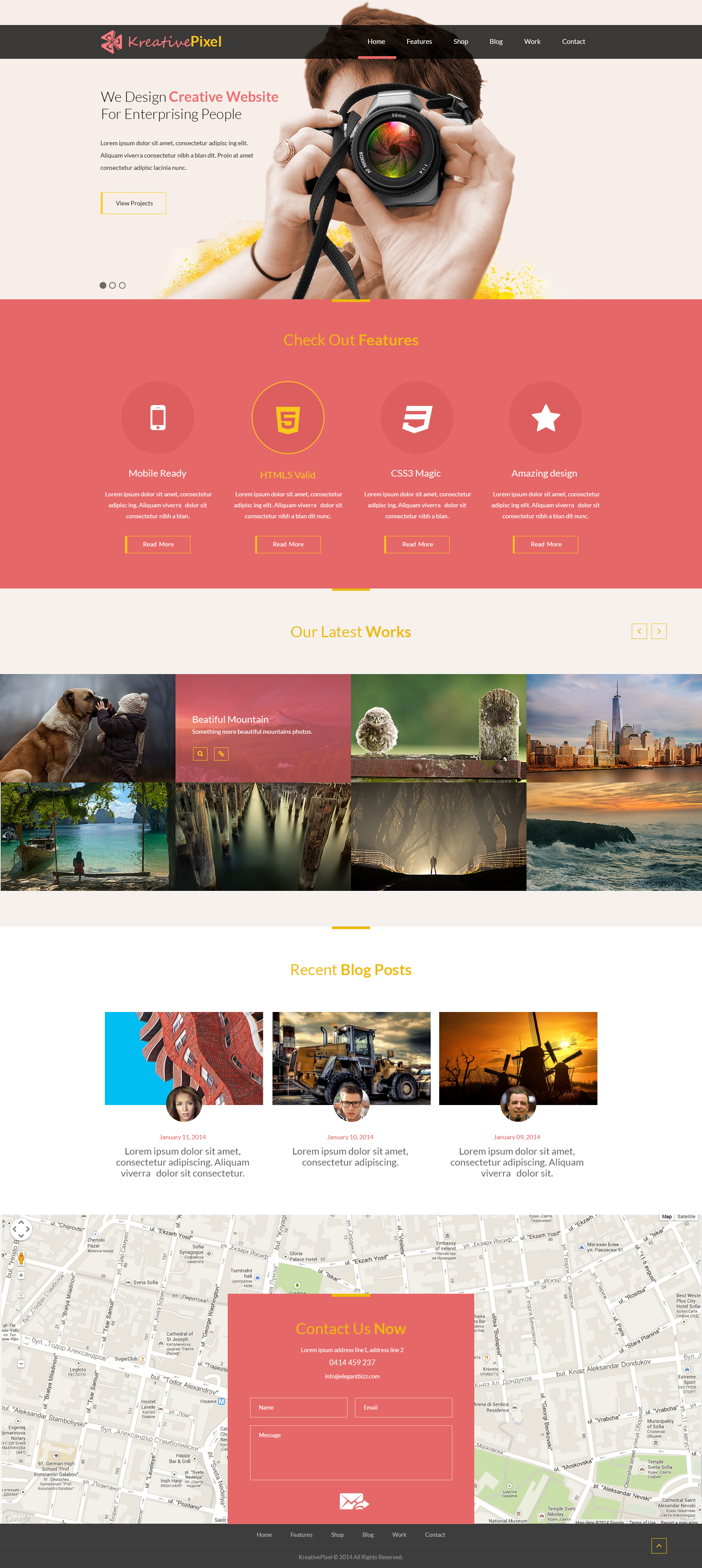 Creative website design template psd download psd for Website layout design software free download