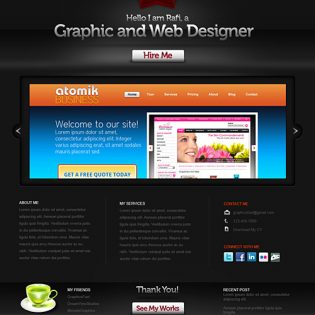 Creative Portfolio Website PSD Template