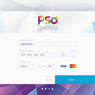 Credit Card Form UI Free PSD Graphics