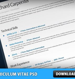 Free Curriculum Vitae - Resume PSD Vacancy, Teamplate, Resume, Psd Templates, PSD Sources, psd resources, PSD images, psd free download, psd free, PSD file, psd download, PSD, Paper, Office, Layered PSDs, Job, Free PSD, download psd, download free psd, Documents, DOC, CV Template, CV, Curriculum Vitae,