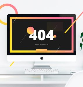Custom 404 Error Page Template Free PSD