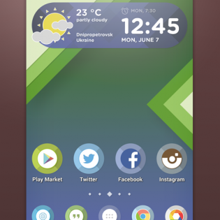 Custom Android Launcher Theme PSD