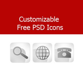 Customizable Free PSD Icons