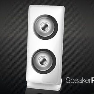 Customizable Speaker PSD Icon