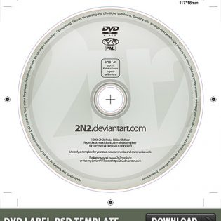 DVD Label Free PSD Template
