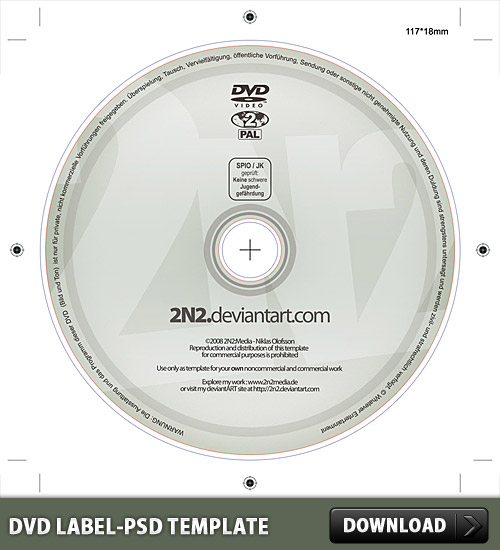 DVD Label Free PSD Template - Download PSD