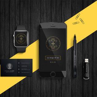 Dark Product Branding Mockups Free PSD