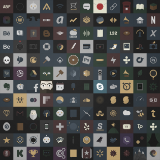 Dark Royalty Free Icon Pack PSD