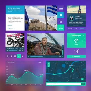 Dashboard Widgets UI Kit Free PSD