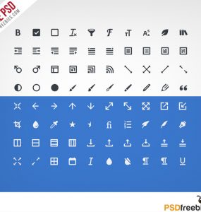 Design Editing Toolbar Icon set Free PSD