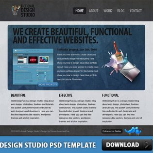 Design Studio Free PSD Template