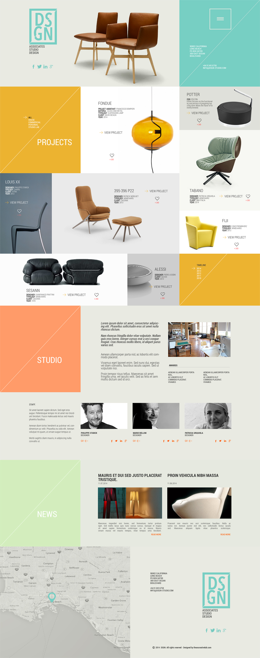 Design Studio Portfolio Website PSD Template
