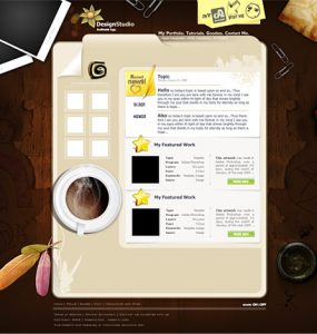 Design Studio Template PSD www Website Layout Website Web Resources Web Layout Web Template Personal Objects Note Layout Layered PSDs Free PSD Template Free PSD Feather Cup Coffee Cup Blog