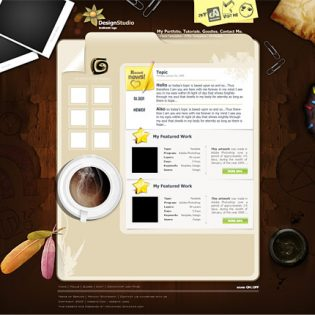 Design Studio Template PSD