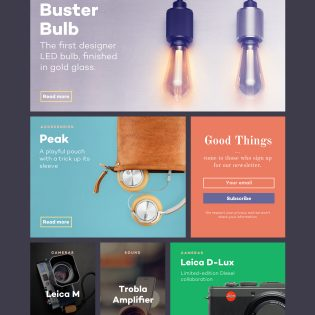 Design and Technology Magazine Website Template PSD