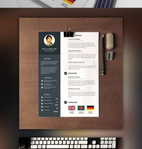 Designer Resume Template with Cover Letter Free PSD