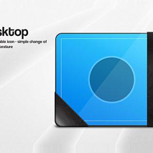 Desktop Icon Graphic PSD File