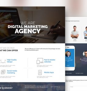 Digital Marketing Agency Website Template Free PSD
