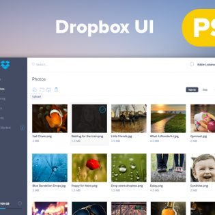 Dropbox Dashboard Redesign UI PSD