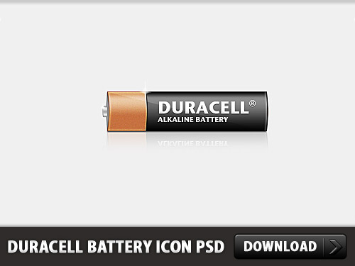 Duracell Battery Icon Free PSD