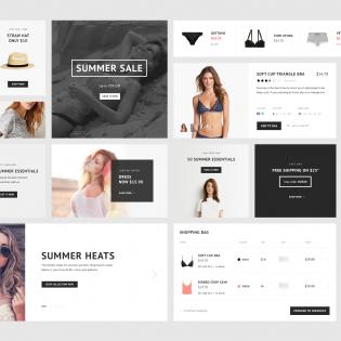 ECommerce Website Widget UI Kit PSD Freebie