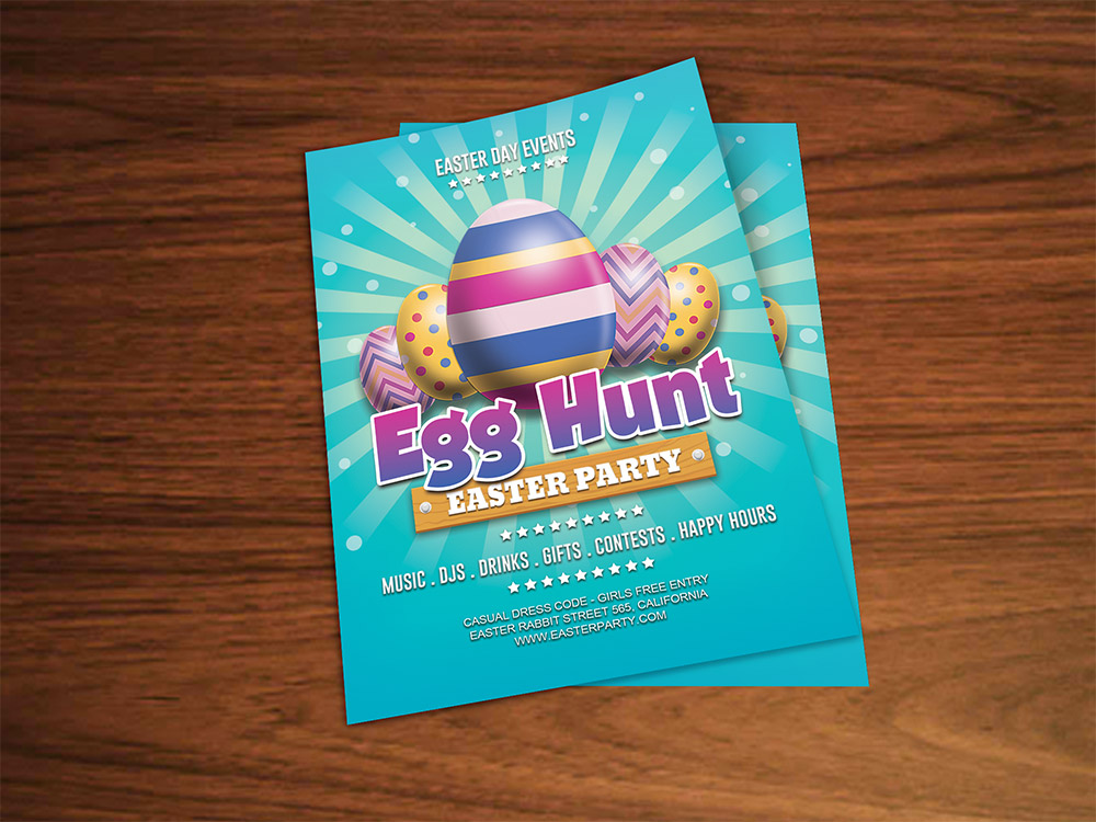 Easter Party Flyer Template Free Psd Download - Download Psd