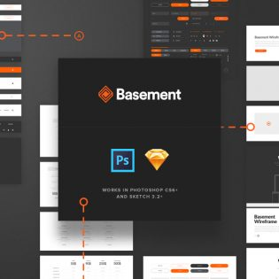 Ecommerce Website Wireframe PSD Freebie