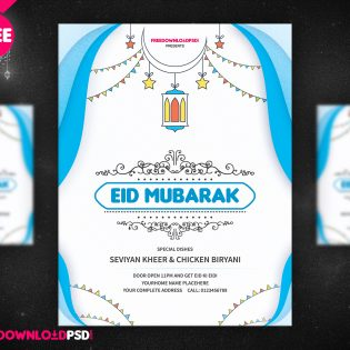 Eid Festival Flyer Template Free PSD