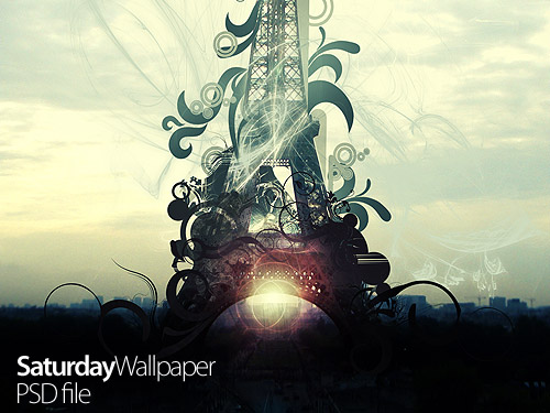Eiffel Tower - Creative Poster PSD Poster Photo Manipulation Layered PSDs