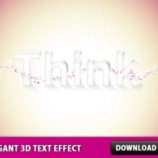 Elegant 3D Text Effect in Photoshop