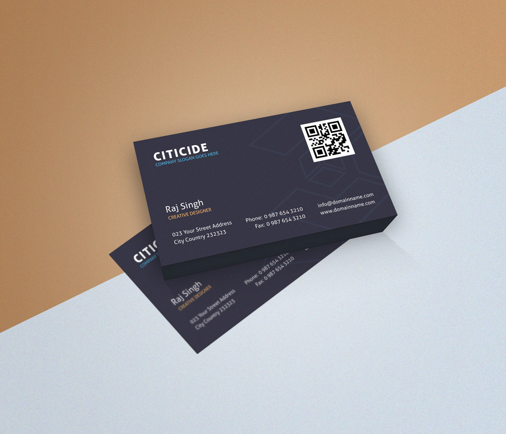 Elegant Business Card Design Template and Mockup PSD