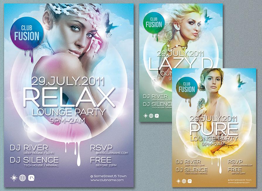 Elegant Colorful Flyer Design PSD