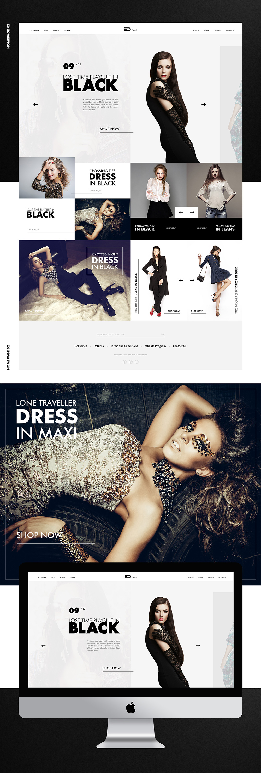 Elegant Fashion Store Website Template Free PSD