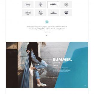 Elegant Multipurpose Fashion Blog Template Free PSD