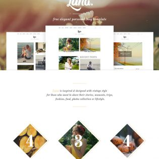 Elegant Personal Blog Free PSD Template