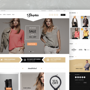 Elegant eCommerce Website Template Free PSD