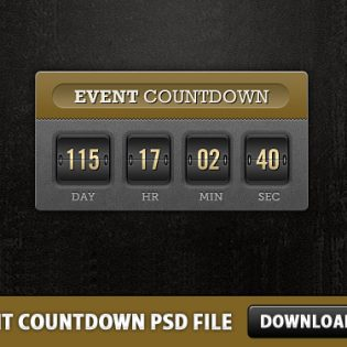 Event Countdown Free PSD file